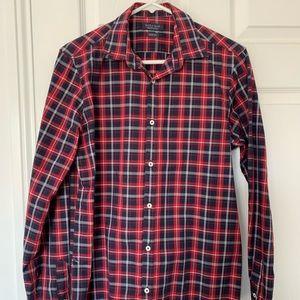 Men's Zara red, blue and white shirt